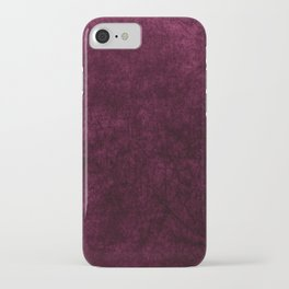 Pink Velvet texture iPhone Case