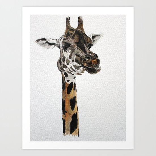 Giraffa camelopardalis Art Print