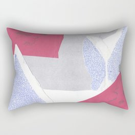 confused shocked thrilled Rectangular Pillow
