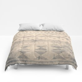 Ethnic geometric pattern with triangles circles shapes and lines Comforters