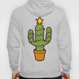 Cactus Christmas Tree in Blue Hoody