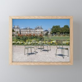 Chairs in Luxembourg Gardens - Paris Framed Mini Art Print