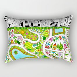 Under(covered)ground Rectangular Pillow