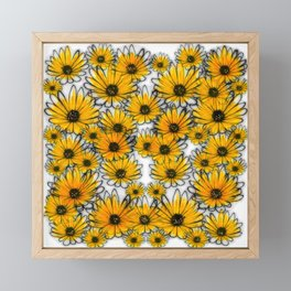 Floral invasion Framed Mini Art Print