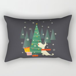 Little White Christmas Westie Rectangular Pillow