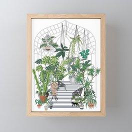 greenhouse illustration Framed Mini Art Print