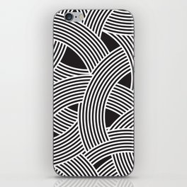 Modern Scandinavian B&W Black and White Curve Graphic Memphis Milan Inspired iPhone Skin