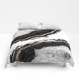 Agate Glitter Glam #2 #gem #decor #art #society6 Comforters