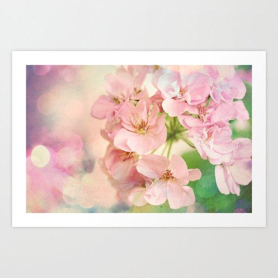 Candy Pink, Lime Green, Vanilla Cream Art Print