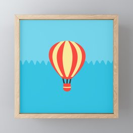 Classic Red and Yellow Hot Air Balloon Framed Mini Art Print