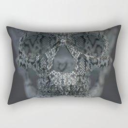 Snake Skull Rectangular Pillow