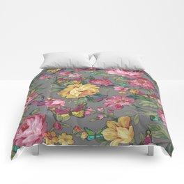 butterflies & roses Comforters