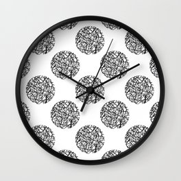 Abstract polka dot Wall Clock
