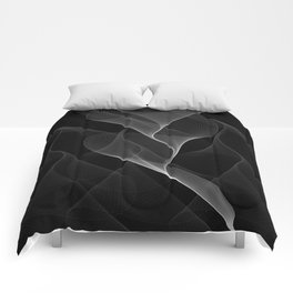 Black and White Flux #minimalist #homedecor #generativeart Comforters