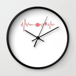 Badminton Heartbeat Serve Racquet Court Racket Rally Shuttlecock Gift Wall Clock