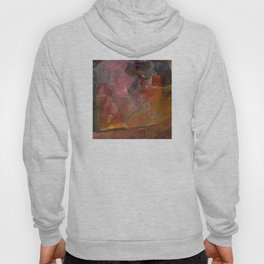 Flaming Sunrise Over the Mountaintop: Abstract Painting Hoody