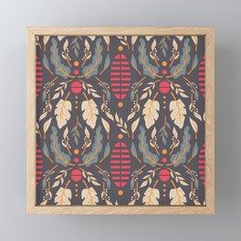 Vintage Floral Pattern 007 Framed Mini Art Print
