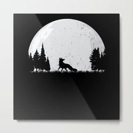 Hunter Hunting Fox Metal Print