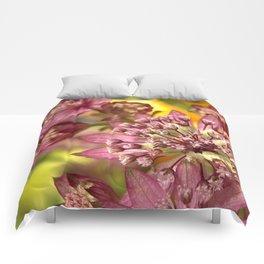 Purple Burst of Flowers 103 Comforters