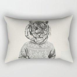 Hipster Urban Tiger Rectangular Pillow