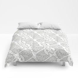 Elephant Pattern by dana alfonso Comforters