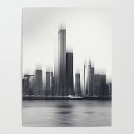 Rotterdam Skyline Abstraction Poster