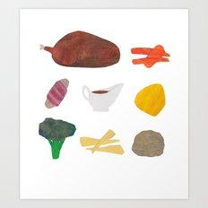 Roast Dinner Art Print