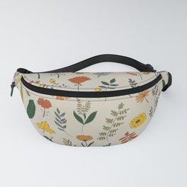 Colorful Plants and Herbs Pattern Fanny Pack