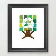 green world Framed Art Print