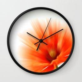 Vivid red Wall Clock