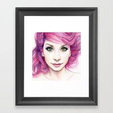 Pink Hair Girl Framed Art Print