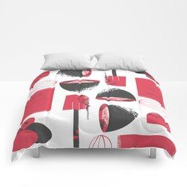 Inky Kitchen Comforters