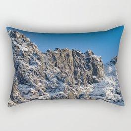 Fresh Snow-Alaskan Mountain Top Rectangular Pillow