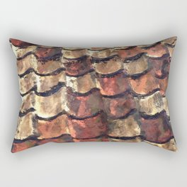 Terra Cotta Roof Tiles Rectangular Pillow