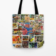 Vintage Sci-Fi Movie Posters  |  Collage Tote Bag