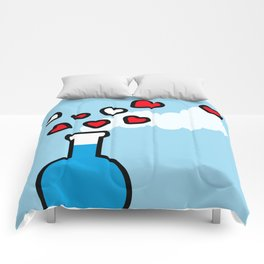 Blue and Red Laboratory Flask Comforters