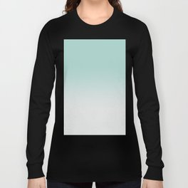 Ombre Duchess Teal and White Smoke Long Sleeve T-shirt