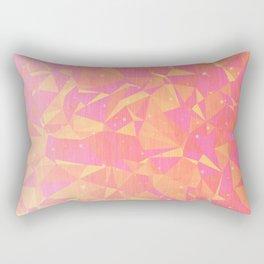 Sunny Flying Geometric Birds Design Rectangular Pillow