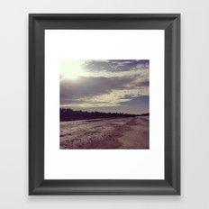 life is an endless beach  Framed Art Print