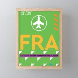 Airport code FRA Frankfurt Framed Mini Art Print