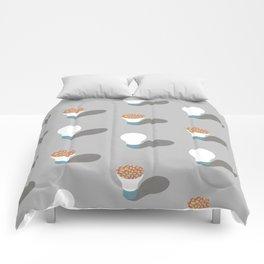 simple pattern of light Comforters