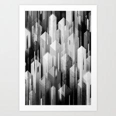obelisk posture (monochrome series) Art Print