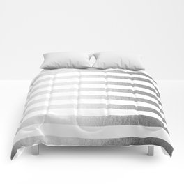 Simply Striped Moonlight Silver Comforters
