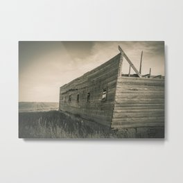 Roofless Barn, Backroads Farmstead, Valley County, MT Metal Print
