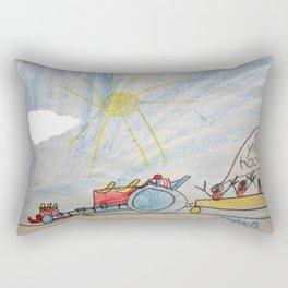Race Tractor Ride Rectangular Pillow