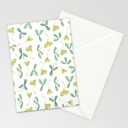 "Watercolor Painting of Picture ""Green Leaves"" Stationery Cards"