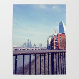Vintage london skyline Poster