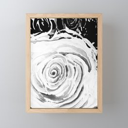 Roses For A Romantic Heart, Black and White Framed Mini Art Print