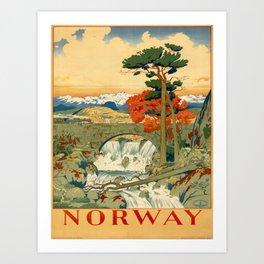 Vintage poster - Norway Art Print