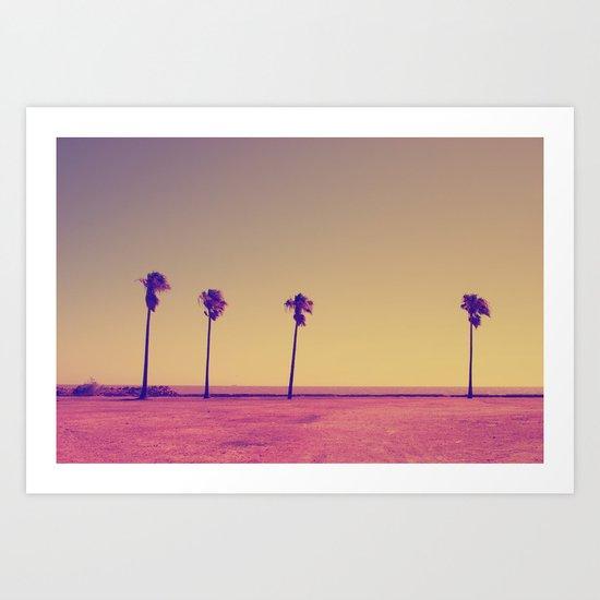 Four Palms In Paradise Art Print